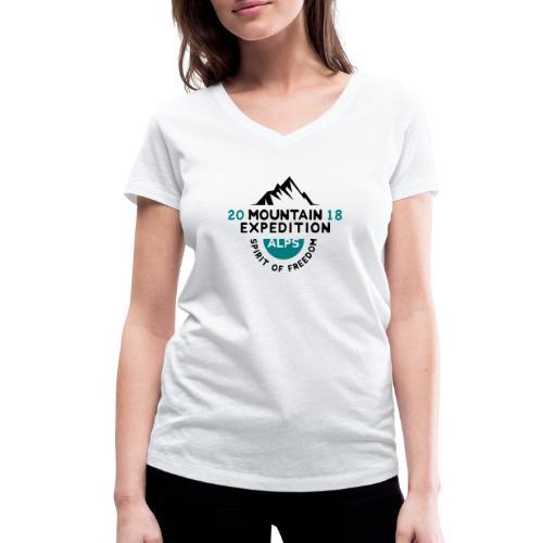 MOUNTAIN EXPECTION - ALPS - T-shirt ecologica da donna con scollo a V di Stanley & Stella