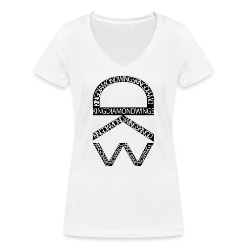 King Diamond Wings Logo - Women's Organic V-Neck T-Shirt by Stanley & Stella