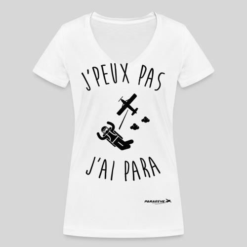 J peux pas j ai para - T-shirt bio col V Stanley & Stella Femme