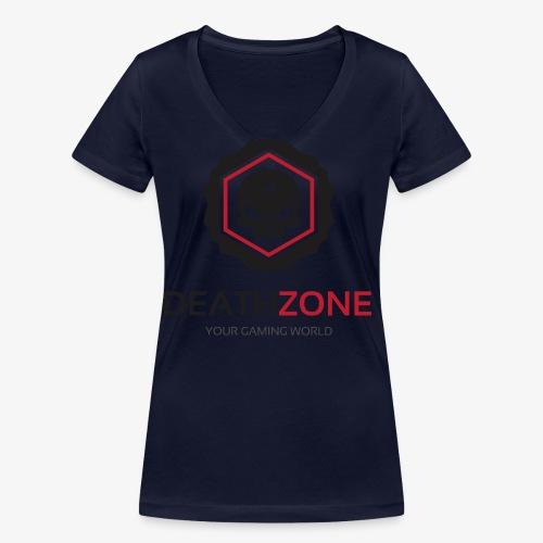 DeathZone Logo Avatar - Ekologiczna koszulka damska z dekoltem w serek Stanley & Stella
