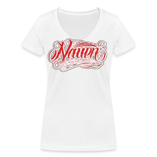 Nauen Rocker - Frauen Bio-T-Shirt mit V-Ausschnitt von Stanley & Stella