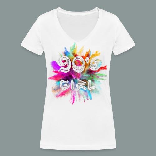 90 s girl - Frauen Bio-T-Shirt mit V-Ausschnitt von Stanley & Stella