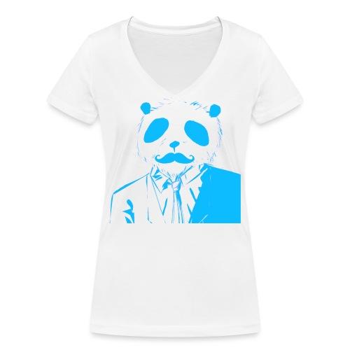 BluePanda Logo - Women's Organic V-Neck T-Shirt by Stanley & Stella