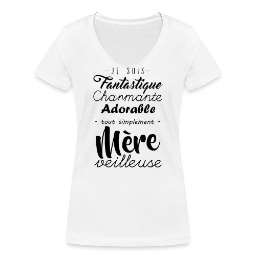 Je suis Mère Veilleuse - T-shirt bio col V Stanley & Stella Femme