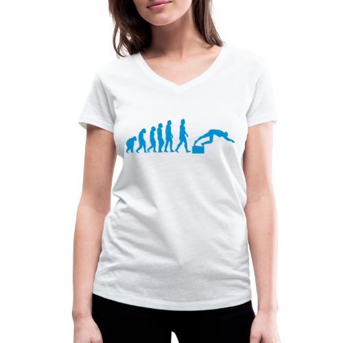SWIMMER'S EVOLUTION - T-shirt ecologica da donna con scollo a V di Stanley & Stella