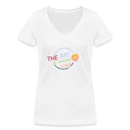 Neon style text effect jpg - Camiseta ecológica mujer con cuello de pico de Stanley & Stella