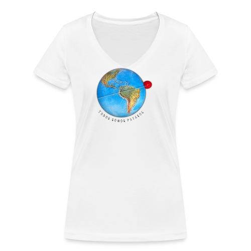 planeta-payaso-latino - Camiseta ecológica mujer con cuello de pico de Stanley & Stella