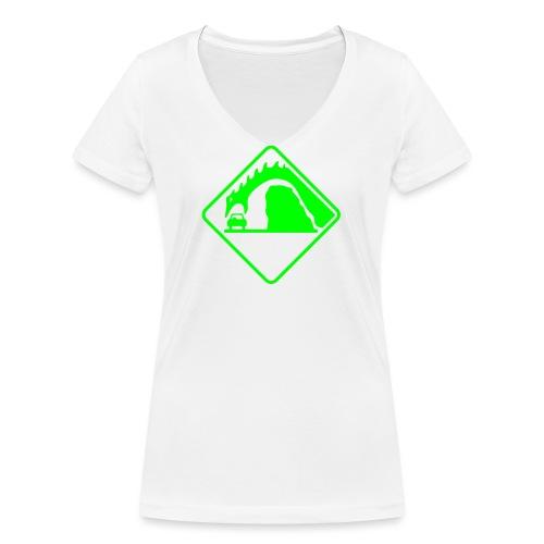 Danger Loch Ness - T-shirt ecologica da donna con scollo a V di Stanley & Stella