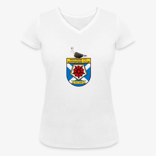 Montrose FC Supporters Club Seagull - Women's Organic V-Neck T-Shirt by Stanley & Stella