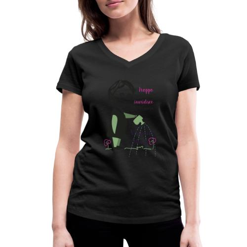 Virginia Woolf citazione - Women's Organic V-Neck T-Shirt by Stanley & Stella