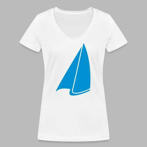 Segel Einfarbig - Frauen Bio-T-Shirt mit V-Ausschnitt von Stanley & Stella