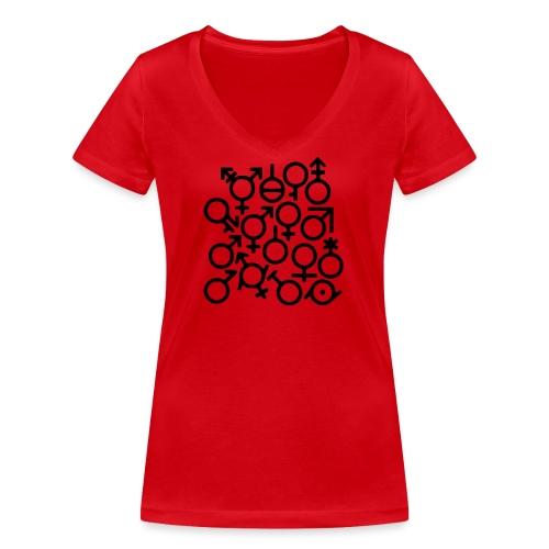 Multi Gender B/W - Vrouwen bio T-shirt met V-hals van Stanley & Stella