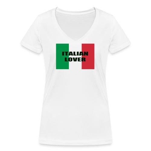 ITALIAN LOVER - T-shirt ecologica da donna con scollo a V di Stanley & Stella
