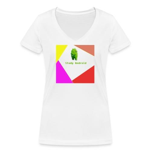 Study Android - Camiseta ecológica mujer con cuello de pico de Stanley & Stella