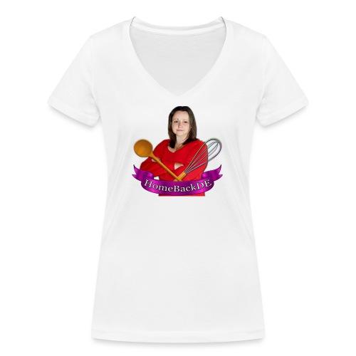 HomeBackDE - Frauen Bio-T-Shirt mit V-Ausschnitt von Stanley & Stella