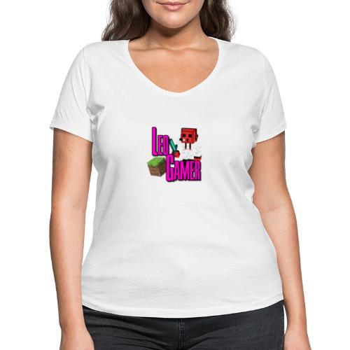 LeoGamer Minecraft - Women's Organic V-Neck T-Shirt by Stanley & Stella