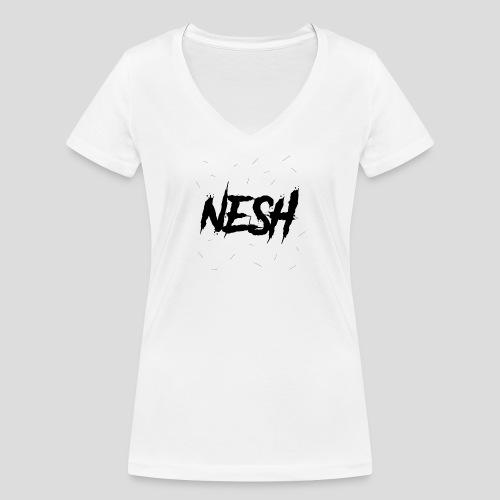Nesh Logo - Frauen Bio-T-Shirt mit V-Ausschnitt von Stanley & Stella