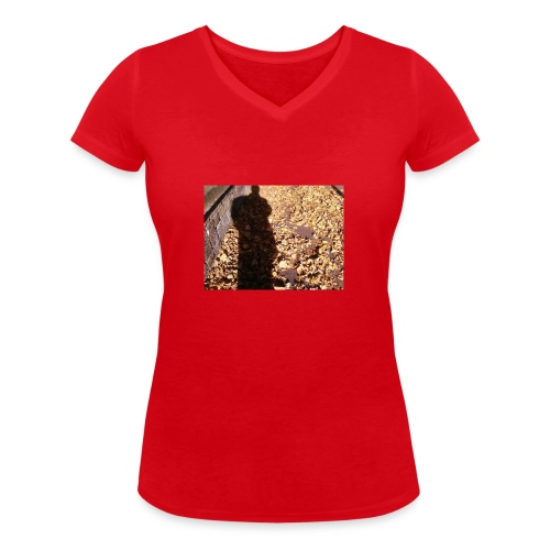 THE GREEN MAN IS MADE OF AUTUMN LEAVES - Women's Organic V-Neck T-Shirt by Stanley & Stella