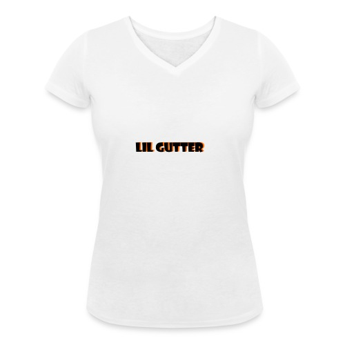 lil gutter sim - Økologisk Stanley & Stella T-shirt med V-udskæring til damer