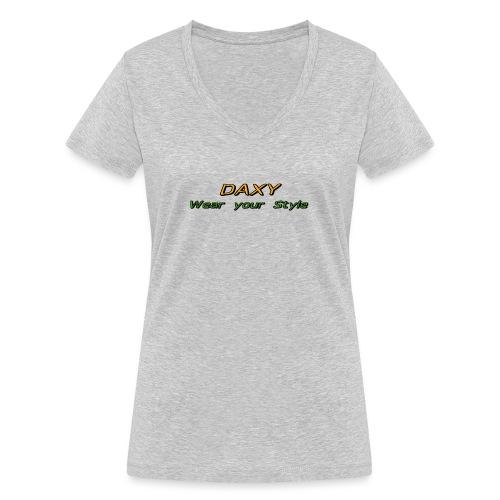Herren Sixpack Shirt von DAXY - Frauen Bio-T-Shirt mit V-Ausschnitt von Stanley & Stella