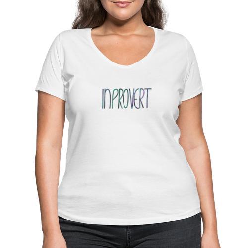 Introvert 3 - inprovert - Frauen Bio-T-Shirt mit V-Ausschnitt von Stanley & Stella
