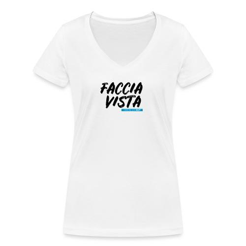 FACCIAVISTA Onlus - T-shirt ecologica da donna con scollo a V di Stanley & Stella