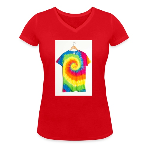 tie die small merch - Women's Organic V-Neck T-Shirt by Stanley & Stella