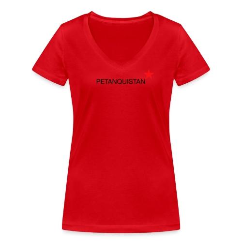 _red_star - Frauen Bio-T-Shirt mit V-Ausschnitt von Stanley & Stella