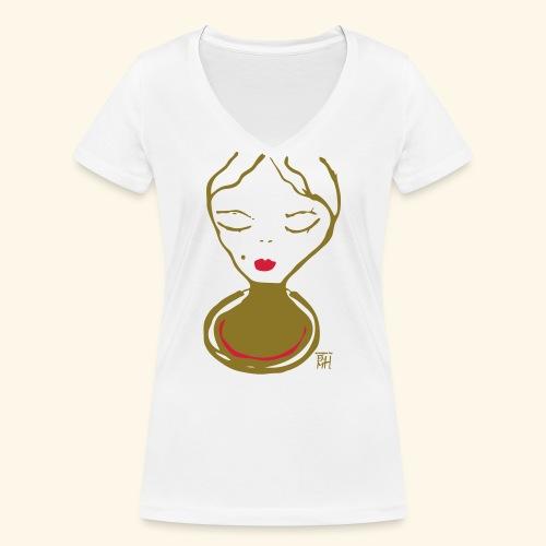 lydia neu - Frauen Bio-T-Shirt mit V-Ausschnitt von Stanley & Stella