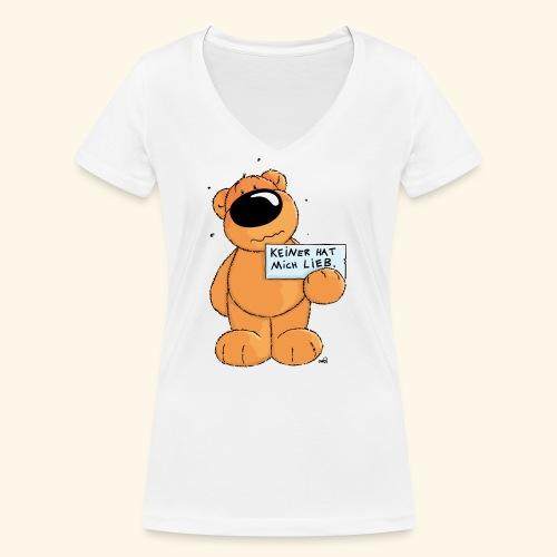 chris bears Keiner hat mich lieb - Frauen Bio-T-Shirt mit V-Ausschnitt von Stanley & Stella