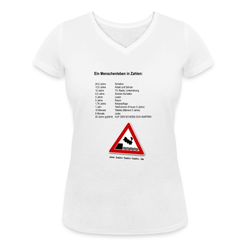 Menschenleben in Zahlen - Frauen Bio-T-Shirt mit V-Ausschnitt von Stanley & Stella