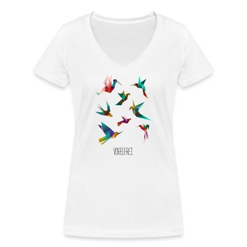 Vogelfrei - Frauen Bio-T-Shirt mit V-Ausschnitt von Stanley & Stella