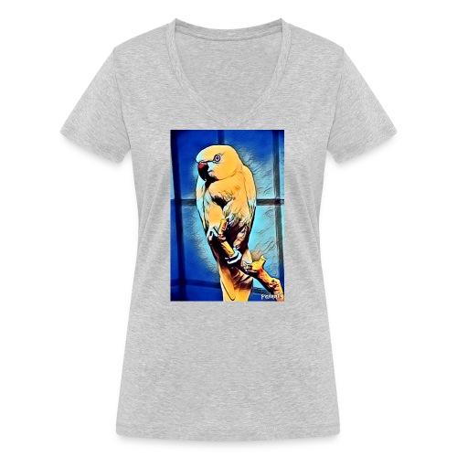 Bird in color - Stanley & Stellan naisten v-aukkoinen luomu-T-paita