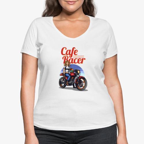 Cafe Racer - T-shirt bio col V Stanley & Stella Femme