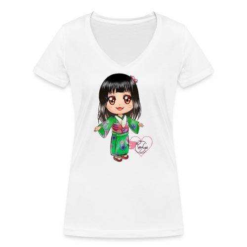 Rosalys crossing - T-shirt bio col V Stanley & Stella Femme
