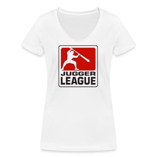 Jugger LigaLogo - Frauen Bio-T-Shirt mit V-Ausschnitt von Stanley & Stella