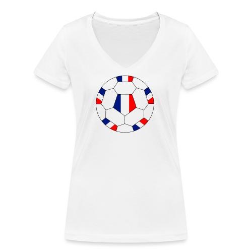 Frankreich Fußball - Frauen Bio-T-Shirt mit V-Ausschnitt von Stanley & Stella