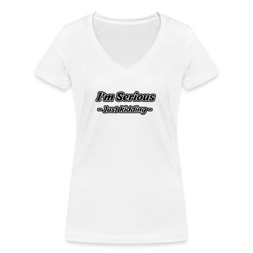 Just Kidding - Frauen Bio-T-Shirt mit V-Ausschnitt von Stanley & Stella