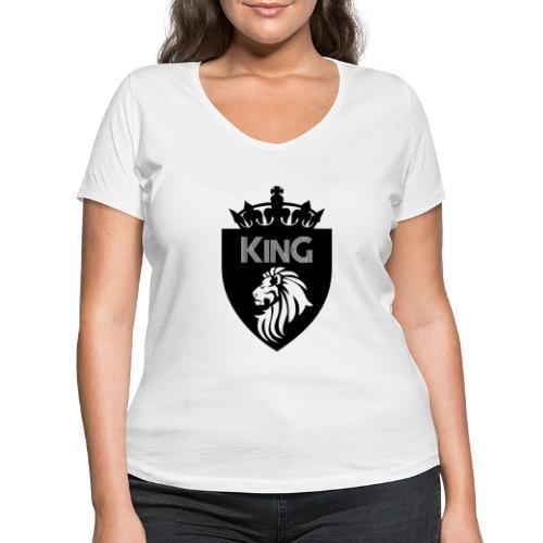 king - T-shirt bio col V Stanley & Stella Femme