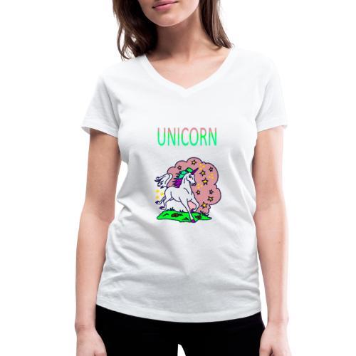 Einhorn unicorn - Frauen Bio-T-Shirt mit V-Ausschnitt von Stanley & Stella