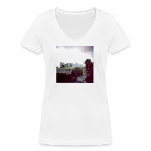 Original Artist design * Blocks - Women's Organic V-Neck T-Shirt by Stanley & Stella