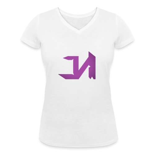 Female J&M Clan T-Shirt - Women's Organic V-Neck T-Shirt by Stanley & Stella