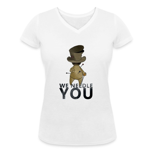 WE NEEDLE YOU - T-shirt bio col V Stanley & Stella Femme