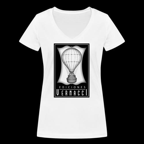 logotipo de ediciones Vernacci - Camiseta ecológica mujer con cuello de pico de Stanley & Stella