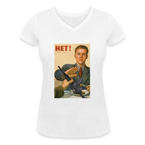 Njet M4 - Frauen Bio-T-Shirt mit V-Ausschnitt von Stanley & Stella