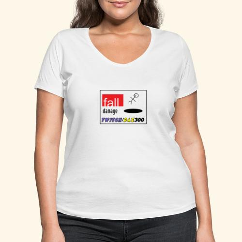 fall2 - Women's Organic V-Neck T-Shirt by Stanley & Stella