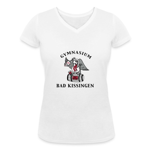 Punktegeier-3c-BK - Frauen Bio-T-Shirt mit V-Ausschnitt von Stanley & Stella