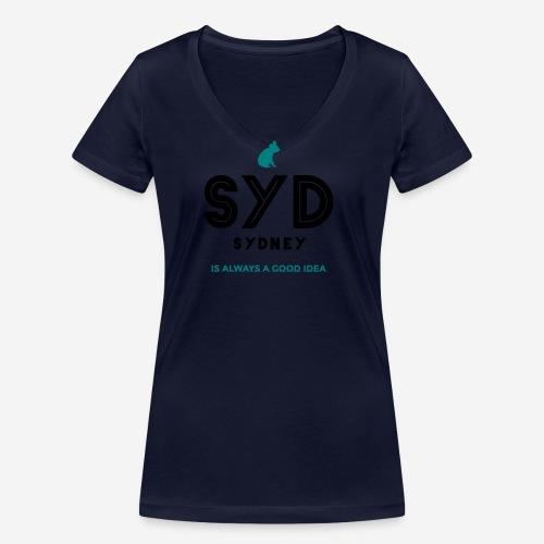 SYDNEY E' SEMPRE UNA BUONA IDEA! - T-shirt ecologica da donna con scollo a V di Stanley & Stella