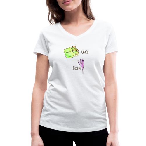 Crocs und Crocus - Frauen Bio-T-Shirt mit V-Ausschnitt von Stanley & Stella
