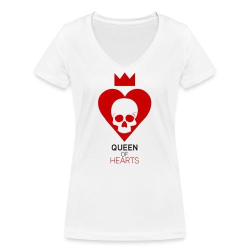 Tee shirt manches longues Reine des Coeurs - T-shirt bio col V Stanley & Stella Femme